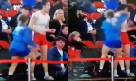 Russian Athlete Breaks Rival's Nose During a Fight in the Stands