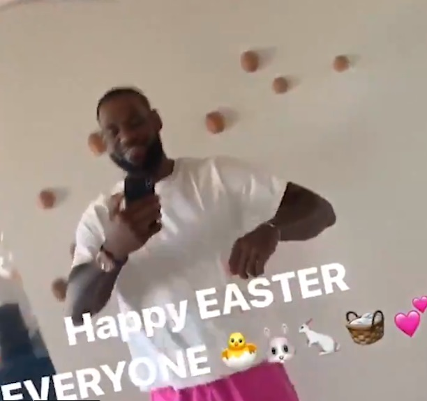 Let's Take a Look at What LeBron James Is Up to On Easter Sunday