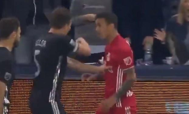 Watch Red Bulls Midfielder Kaku Kick a Ball Into Fan's Face