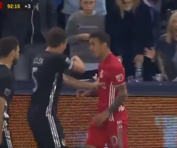 Watch Red Bulls Midfielder Kaku Kick a Ball Into Fan's Face