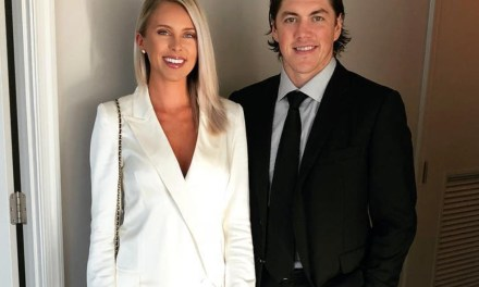 T.J. Oshie's Wife is Ready for the Postseason