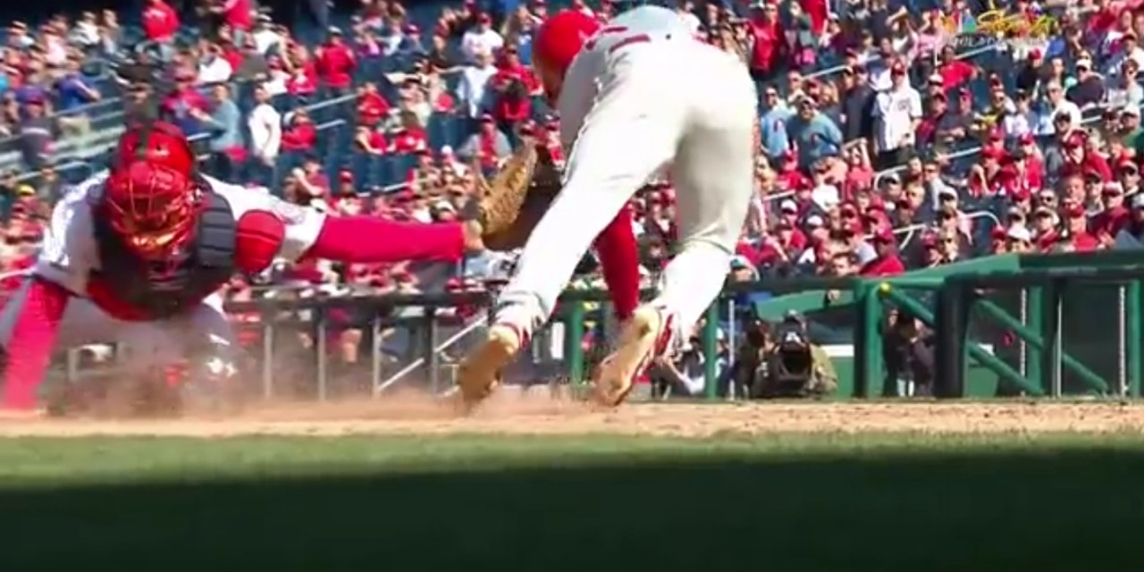 Scott Kingery Pulled Off an Incredible Move to Avoid a Tag at the Plate
