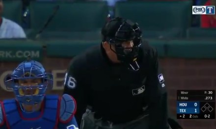 Umpire Ron Kulpa Turned the Astros and Rangers Game into a Staring Contest