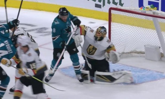 Sharks Captain Joe Pavelski Scored a Goal with His Face