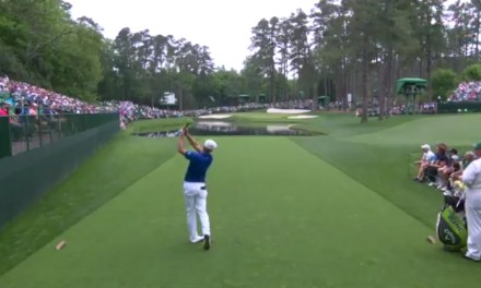 Bryson DeChambeau Sinks His First Hole-in-One at the Masters