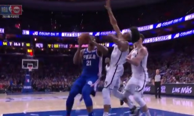 Joel Embiid Hit With a Flagrant Foul for a Vicious Elbow