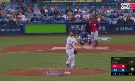 Yasiel Puig Hit a Home Run Off of Clayton Kershaw in His First At-Bat Back at Dodger Stadium