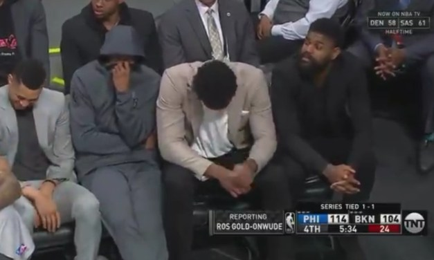 Someone Farted on the Sixers Bench