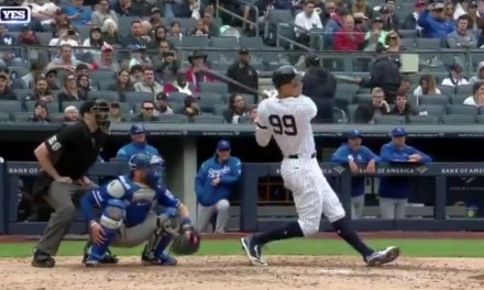 Aaron Judge Drops an F Bomb in the Dugout After Hurting Himself on a Swing