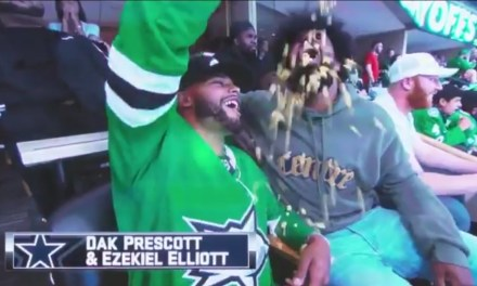 Dak Prescott Fed Ezekiel Elliott at the Dallas Stars Game