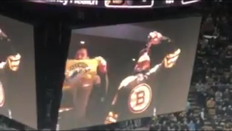 Julian Edelman Gets Bruins Fans Going by Chugging a Beer