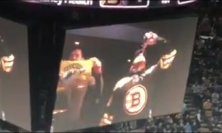 Julian Edelman Gets Bruins Fans Going by Chugging a Beer