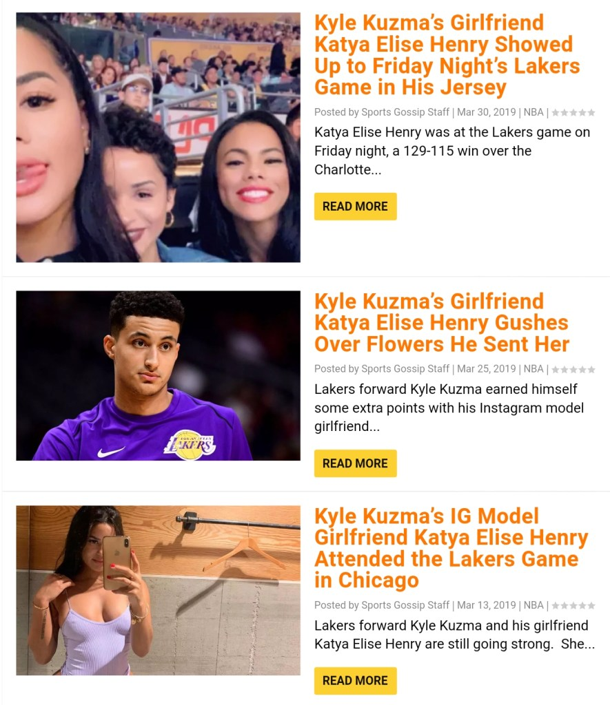 Did Kyle Kuzma and His IG Model Girlfriend Katya Elise Henry