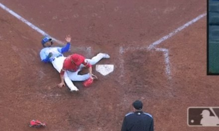 Hansel Robles Straight Up Tackled a Baserunner