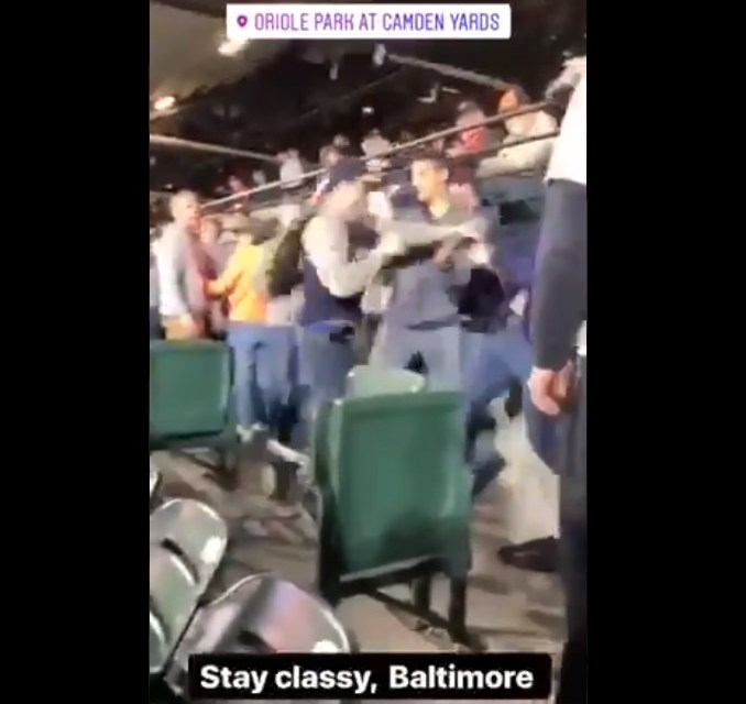 A Fan Fight Broke Out at the Orioles Yankees Game