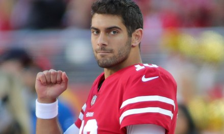 Jimmy Garoppolo Spotted Leaving the Bar with a Six