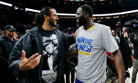 Colin Kaepernick and The Warriors Celebrate Another NBA Finals Berth