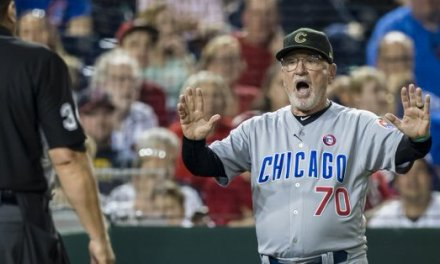 Joe Maddon Protests Cubs Loss to Nats Over Double Toe Tap