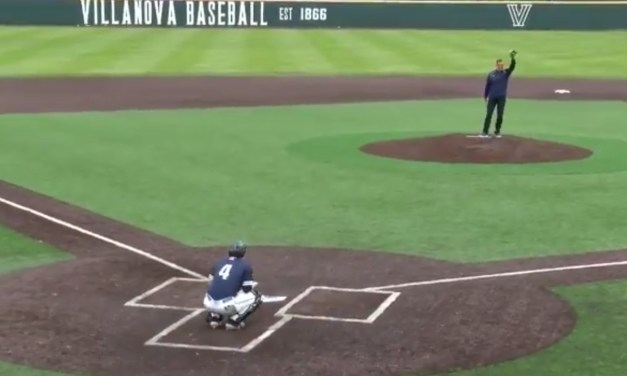 Villanova Basketball's Jay Wright Tried and Failed to Throw Out a First Pitch