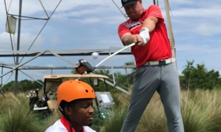 Jameis Winston Let a Trick Shot Golfer Hit a Ball Off of His Head