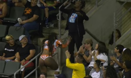 LFL Game MVP Shares a Hug and a Beer With Her Mother