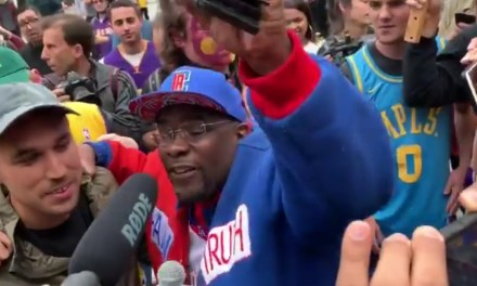 "Clipper Darrell Crashes the Lakers Protest and Declares ""the Laker Era is Over"""