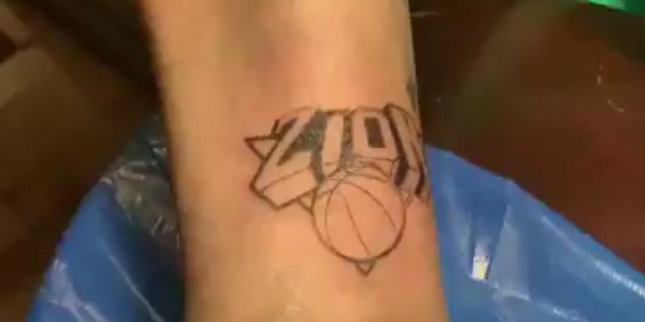 Knicks Fan Got a Zion Tattoo Before the NBA Draft Lottery