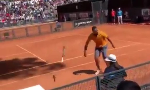 Nick Kyrgios Got Disqualified After Losing His Mind and Smashing His Racket at the Italian Open