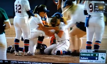 Auburn Softball Pitcher Diagnosed with a Concussion after Taking a Line Drive to the Face