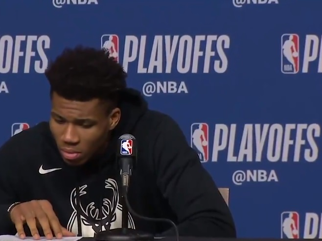 Giannis Antetokounmpo Disrespects Marcus Smart During Post Game Presser