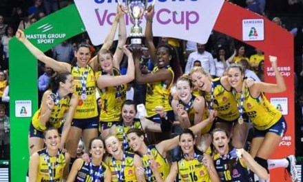 Italian Volleyball Players Strip Off With Trophy to Celebrate Championship