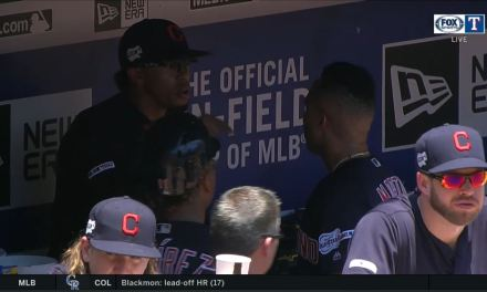 Francisco Lindor and Leonys Martin Have to Be Separated in the Indians Dugout