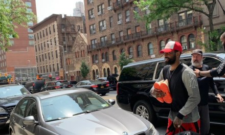 Kyrie Irving Spotted Walking into a New York Townhouse Just 15 Minutes from Madison Square Garden