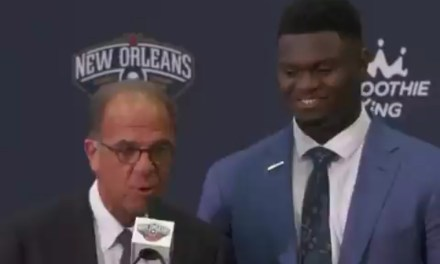 Pelicans Announcer Asks Zion Williamson if He's in Shape during Introductory Press Conference