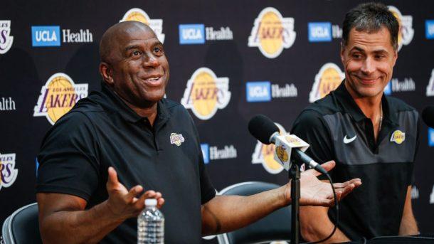 Magic Johnson Gave Praise to The 'Backstabber' Rob Pelinka After Anthony Davis Trade