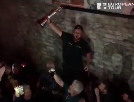 British Open Winner Shane Lowry Sang at Irish pub While Holding Claret Jug