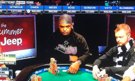Former NFL Player Still Alive at World Series of Poker