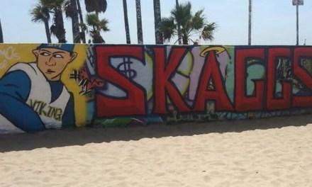 Fans Graffitied a Mural at Venice Beach for Tyler Skaggs