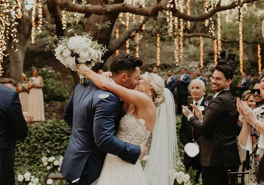 Baker Mayfield Shares Pictures from His Wedding as the Couple Checks Into Their Honeymoon Hotel