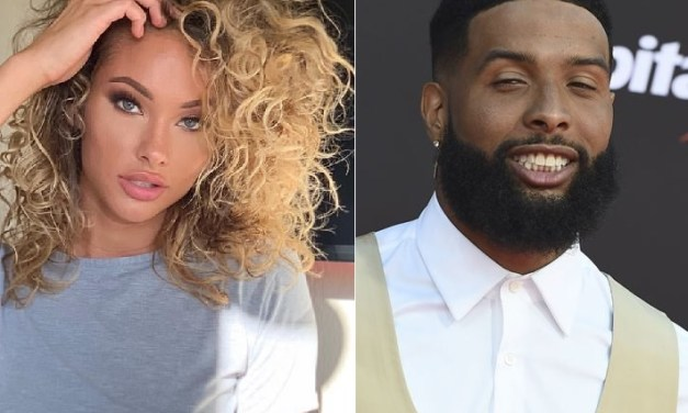 Odell Beckham Jr. Spotted with His Girlfriend Lolo Wood At Celebrity Basketball Game