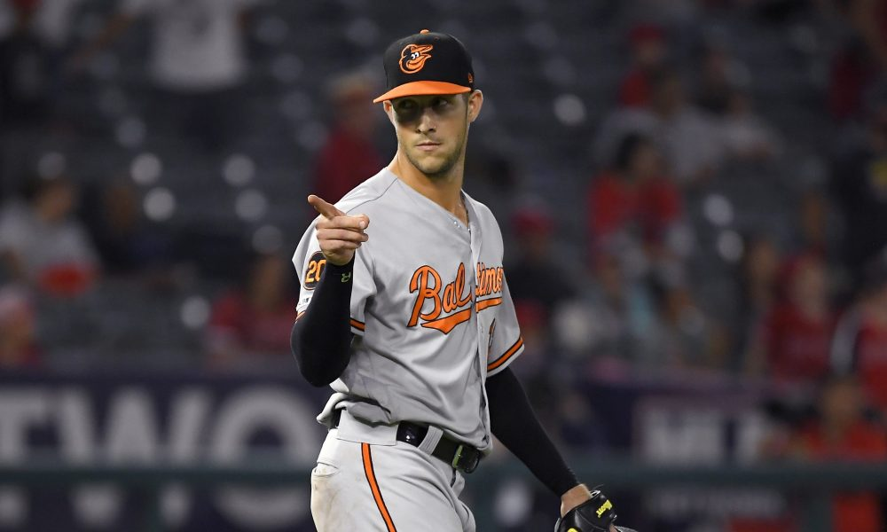 Orioles Outfielder Gets The Save Throwing in the Mid 50's