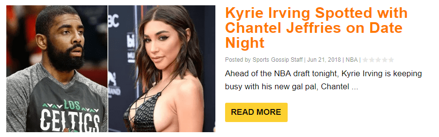 Kyrie Irving's Ex Chantel Jeffries is Still Showing Love to