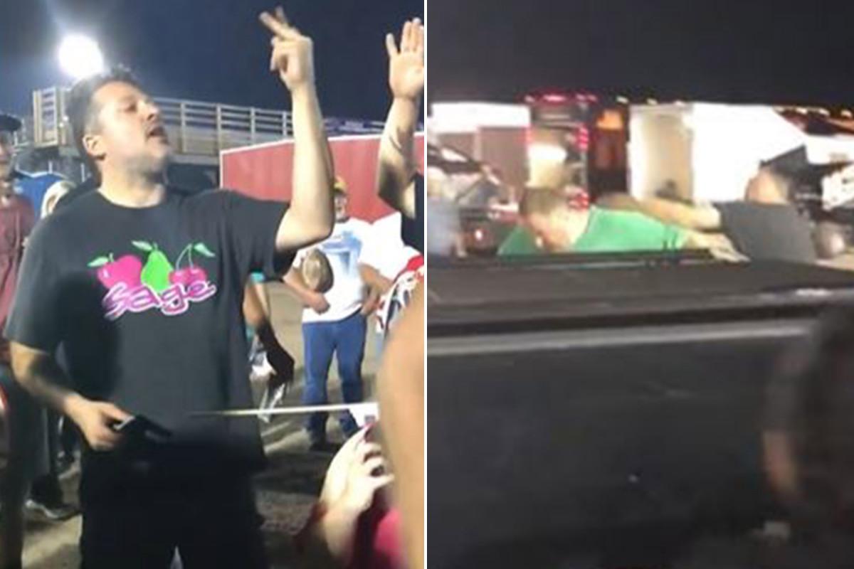 Tony Stewart Caught On Camera Punching Heckler