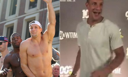 Rob Gronkoswki Reveals Just How Much Weight He's Lost Since Retiring