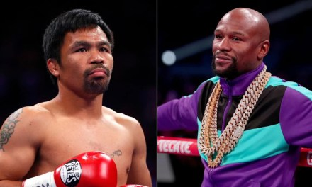 Floyd Mayweather and Manny Pacquiao Trade Shots After Rematch Talks Resurface