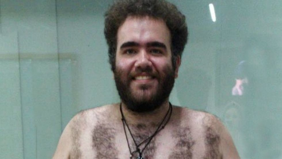 Soccer Fan's Hilarious Chest Hair Tribute to His Team Goes Viral
