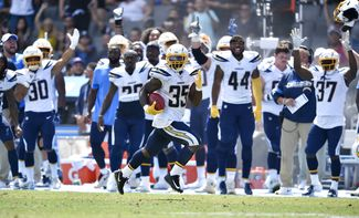 Chargers RB Troymaine Pope Returned a Punt 81-Yards for a Touchdown