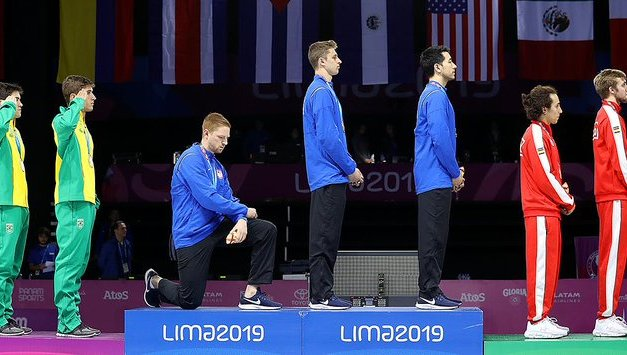 U.S. Athlete Took a Knee During a Pan American Games Medal Ceremony