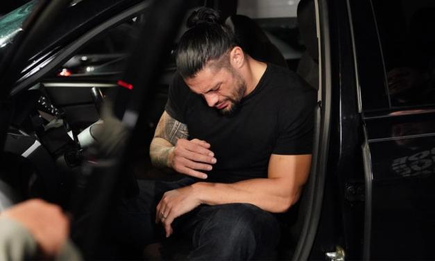 Watch Roman Reigns Barely Avoid Getting Hit by Speeding Car on WWE Raw