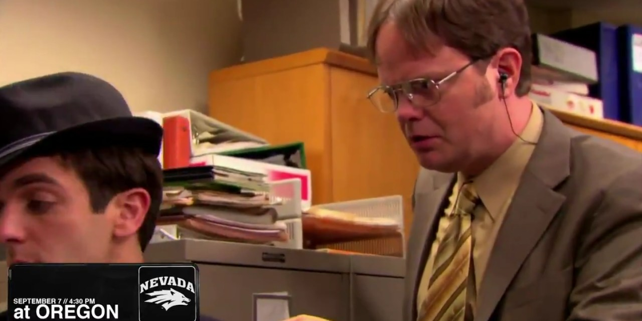 "Nevada Football Announced Their Schedule With Scenes from ""The Office"""